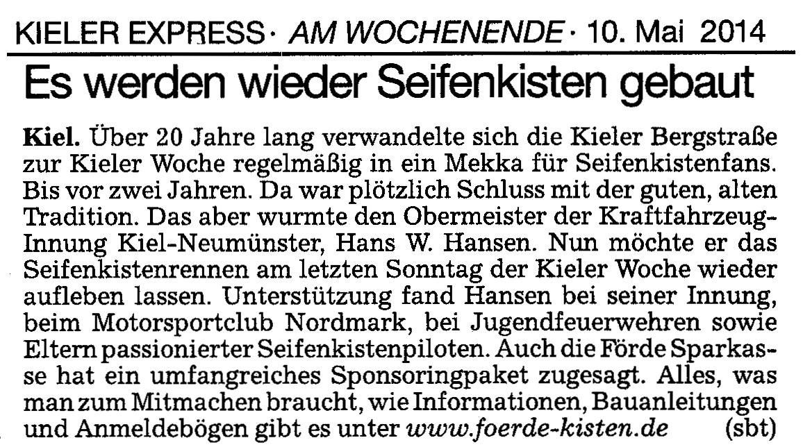 Kieler Express 10.05.2014